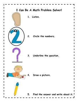 Problem solving ideas for kindergarten